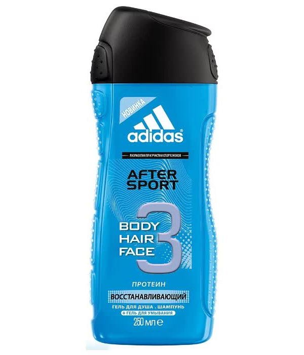 Гель для душа и шампунь Adidas Shower Gel Male (after sport), 250 мл