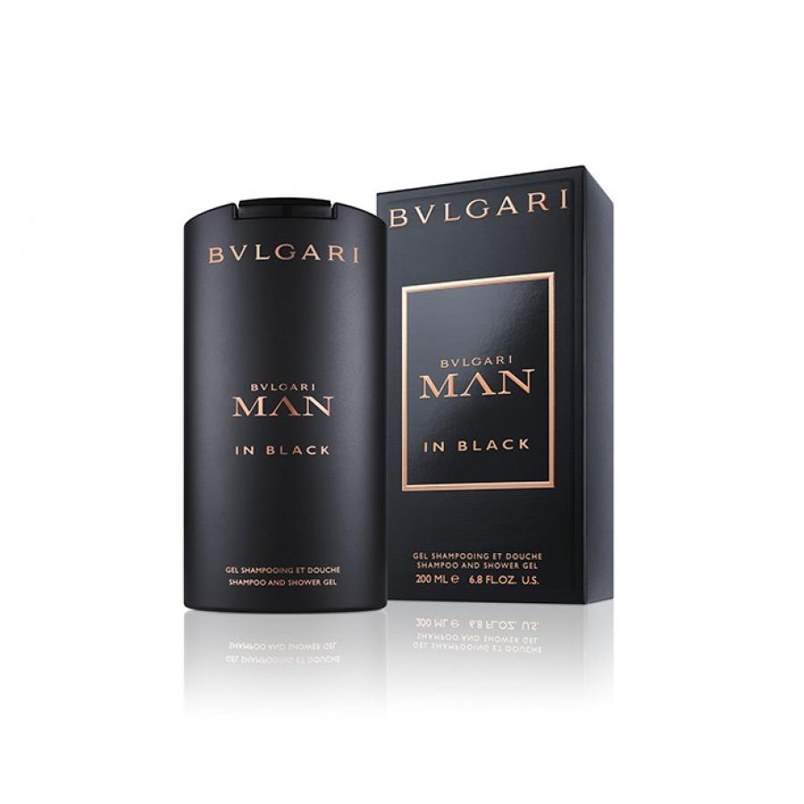 Шампунь и гель для душа Bvlgari Man In Black, 200 мл 3 in 1 man s manual 2 blade single head shaver razor set black silver