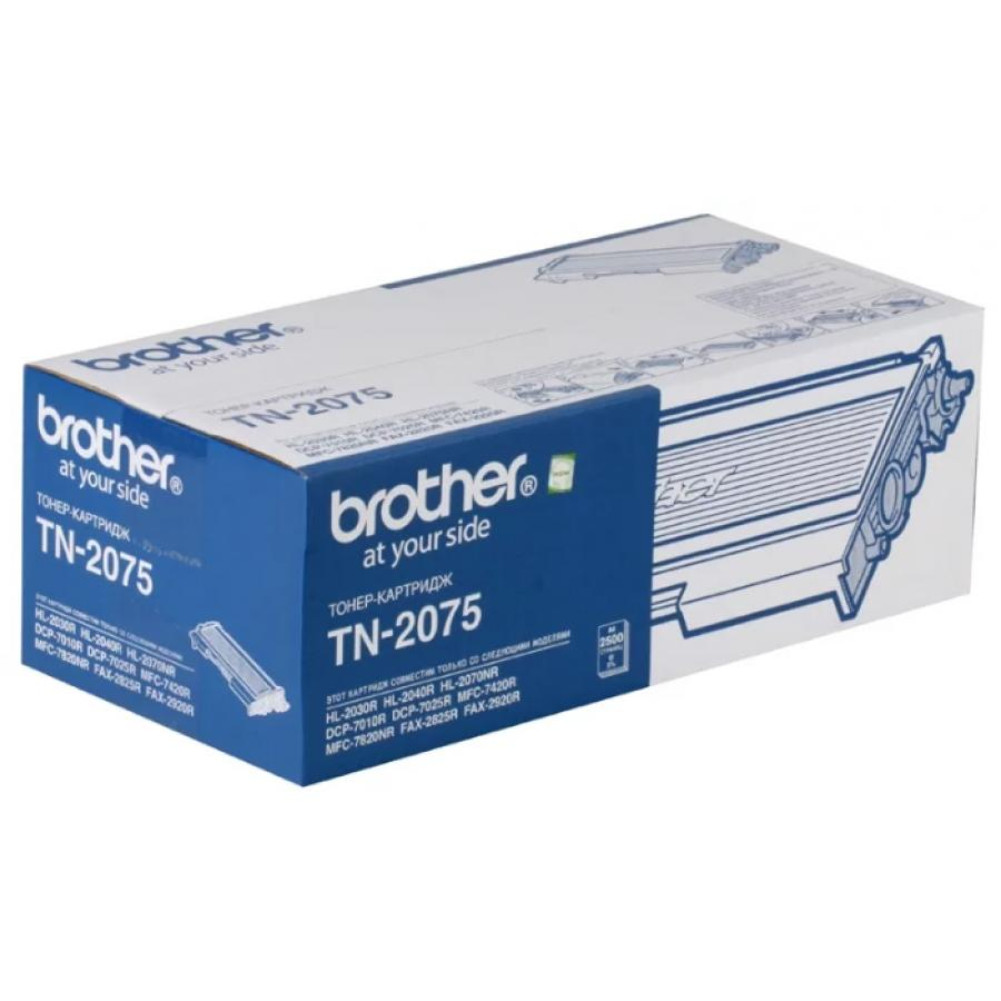 Купить Картридж Brother Tn2075 Для Brother Hl2030/2040/2070/2920/dcp7010/7025/mfc7420/7820, Черный
