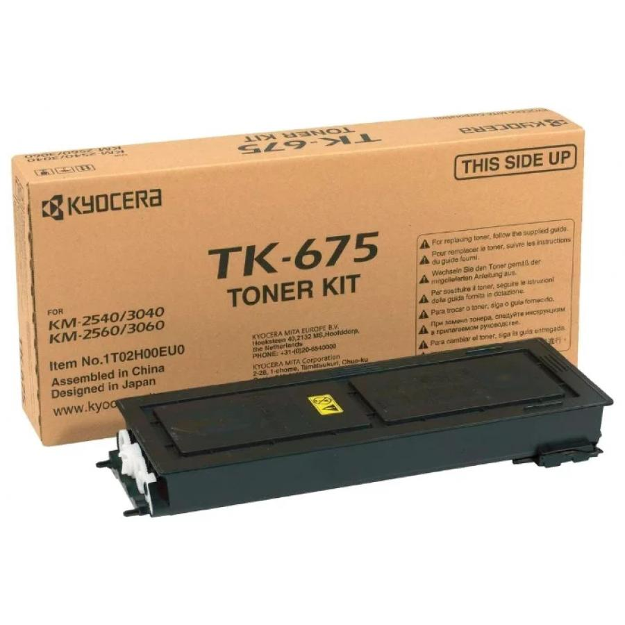 Картридж Kyocera TK-675 для Kyocera KM-2540/3040/2560/3060, черный new original kyocera 302h025011 frame fuser right for km 3060 3040 2560 2540 ta300i