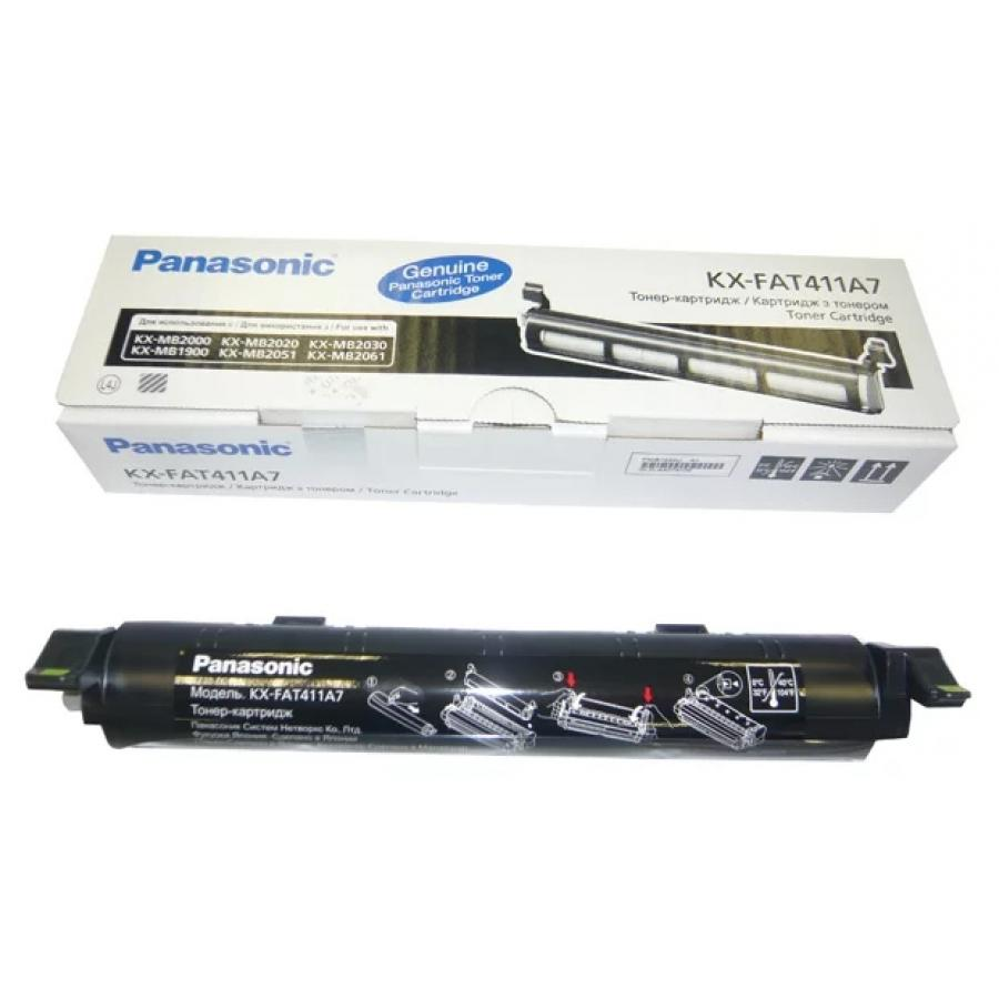Картридж Panasonic KX-FAT411A7 для Panasonic KX-MB1900/2000/2010/2020/2030/2051/2061, черный цена
