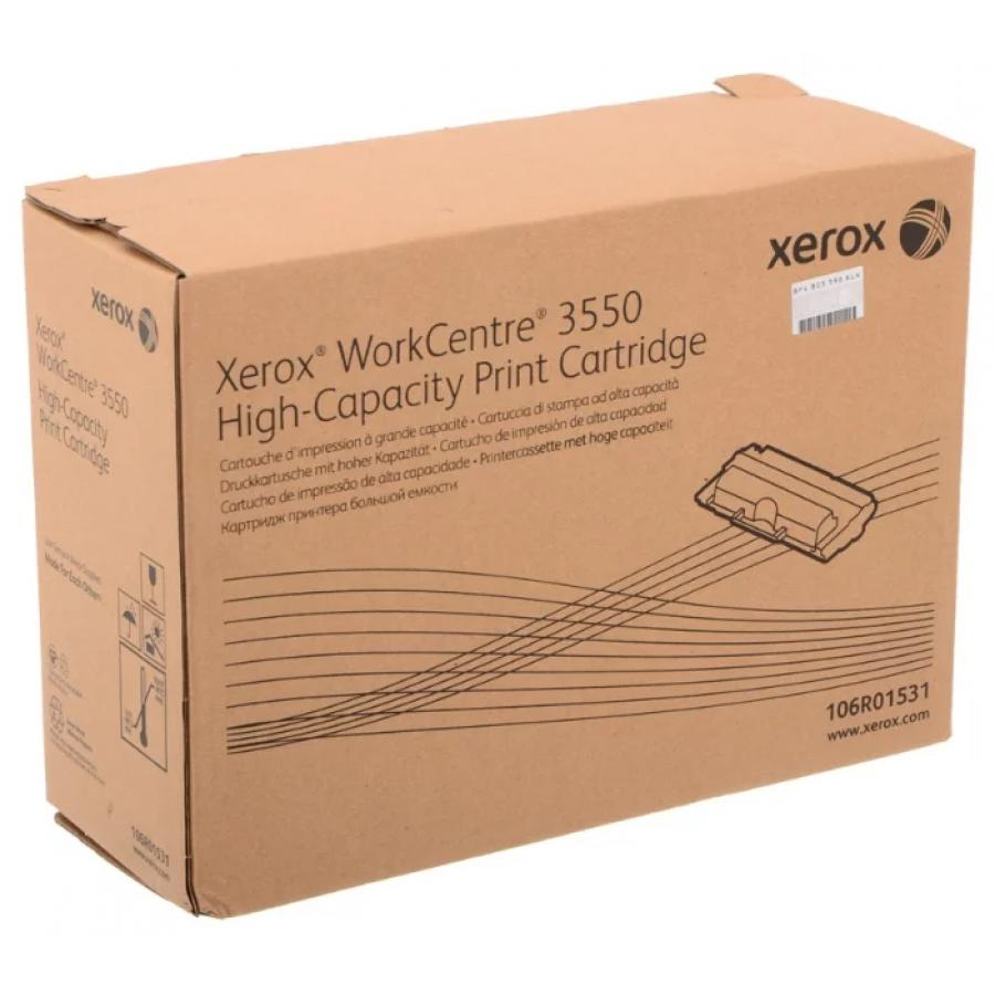 Картридж Xerox 106R01531 для Xerox WC 3550, черный картридж xerox workcentre 3550 106r01531