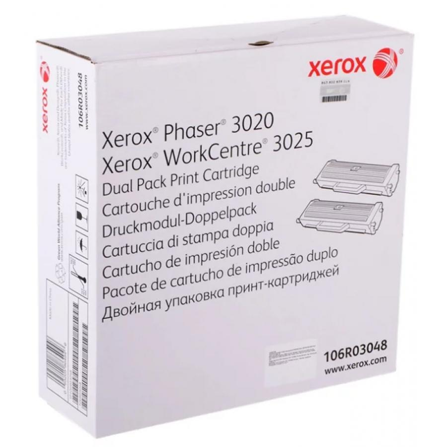 Картридж Xerox 106R03048 для Xerox Ph 3020/WC 3025, черный картридж t2 для xerox phaser 3020 workcentre 3025 1500стр черный 106r02773