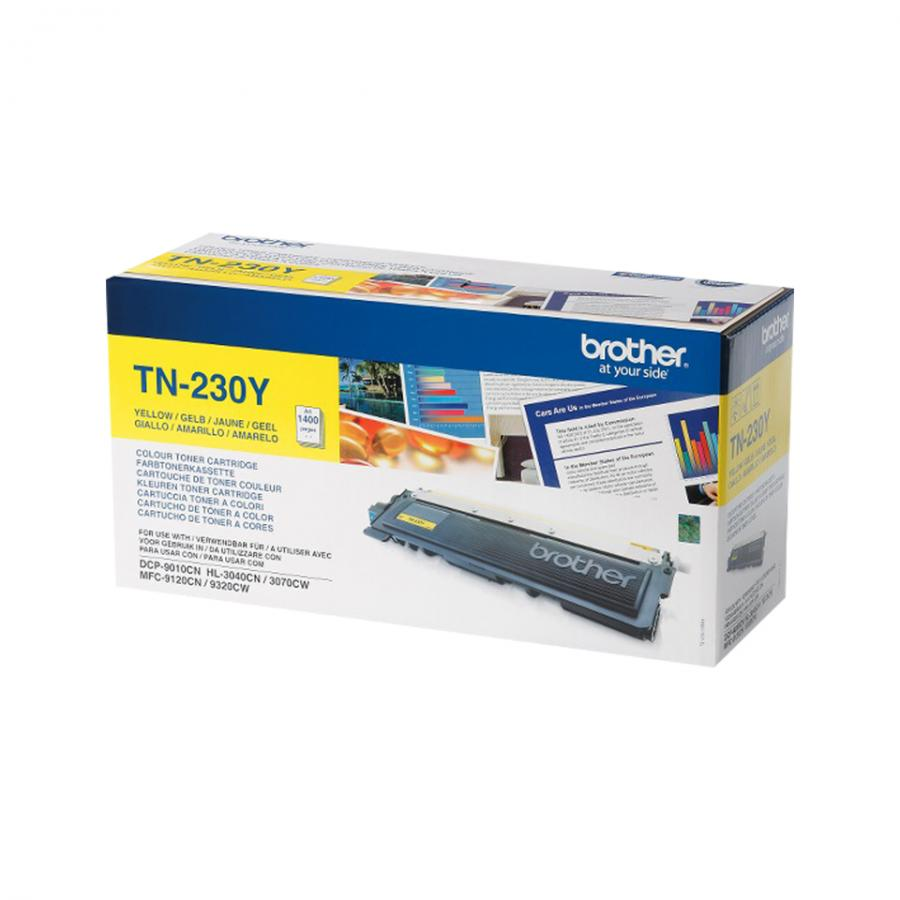 Картридж Brother TN230Y для Brother HL3040/3070/DCP9010/MFC9120/9320, желтый картридж brother tn910y желтый