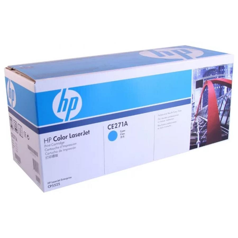 Картридж HP CE271A для HP LJ CP5520/5525, голубой картридж hp pigment ink cartridge 70 black z2100 3100 3200 c9449a