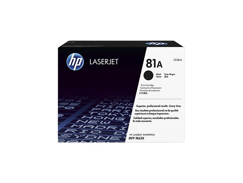 Тонер Картридж HP 81A CF281A черный (10500стр.) для HP LJ Pro M630dn/f/h/z картридж cactus cs cf281av для hp lj enterprise m630 m604n m605n m606dn черный 10500стр