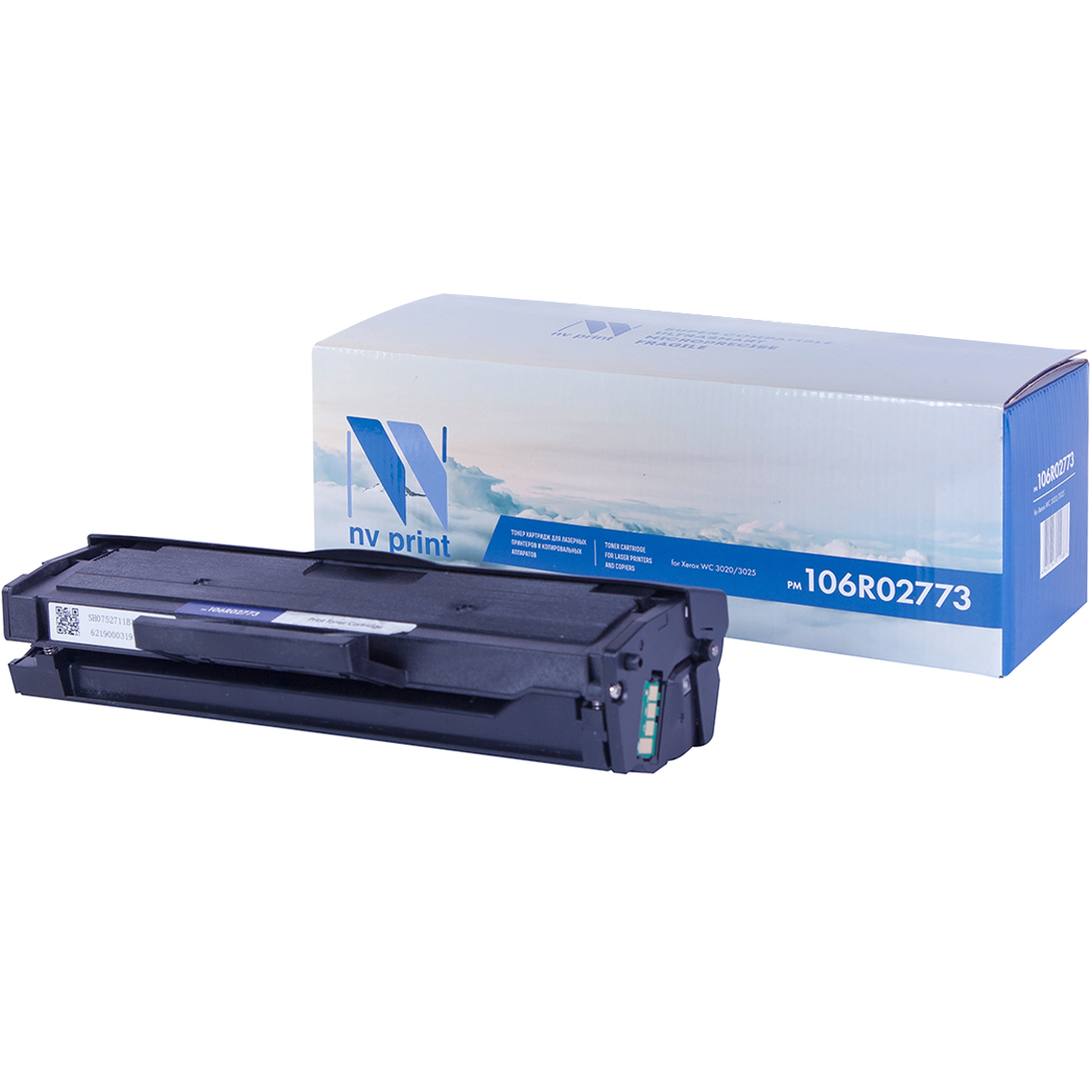 Фото - Картридж NV Print 106R02773 для Xerox Phaser 3020/WorkCentre 3025 (1500k) картридж t2 для xerox phaser 3020 workcentre 3025 1500стр черный 106r02773