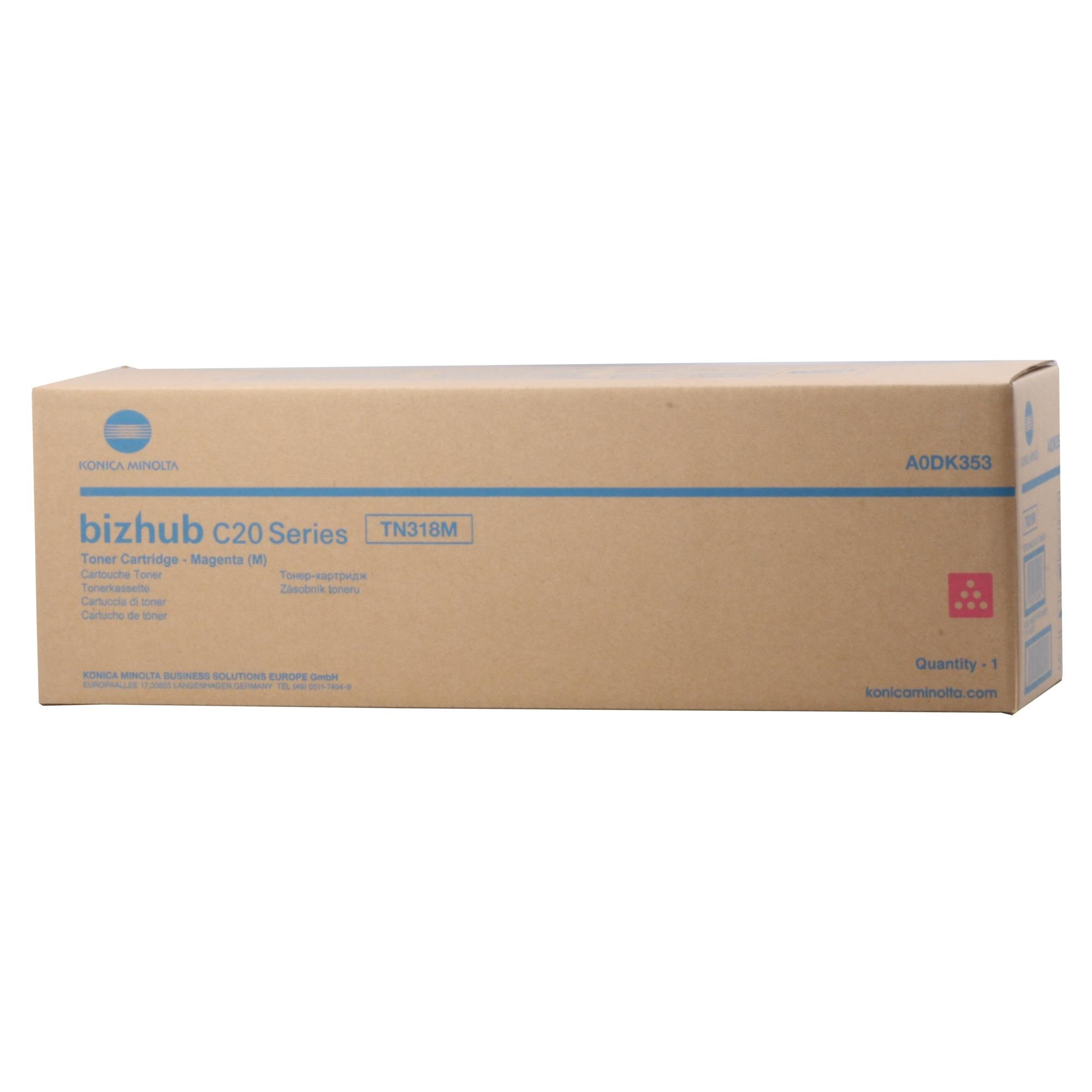 Фото - Тонер Konica-Minolta bizhub C20/C20P (TN-318M/A0DK353) красный тонер konica minolta accurioprint c2060l tn 620k a3vx154 черный