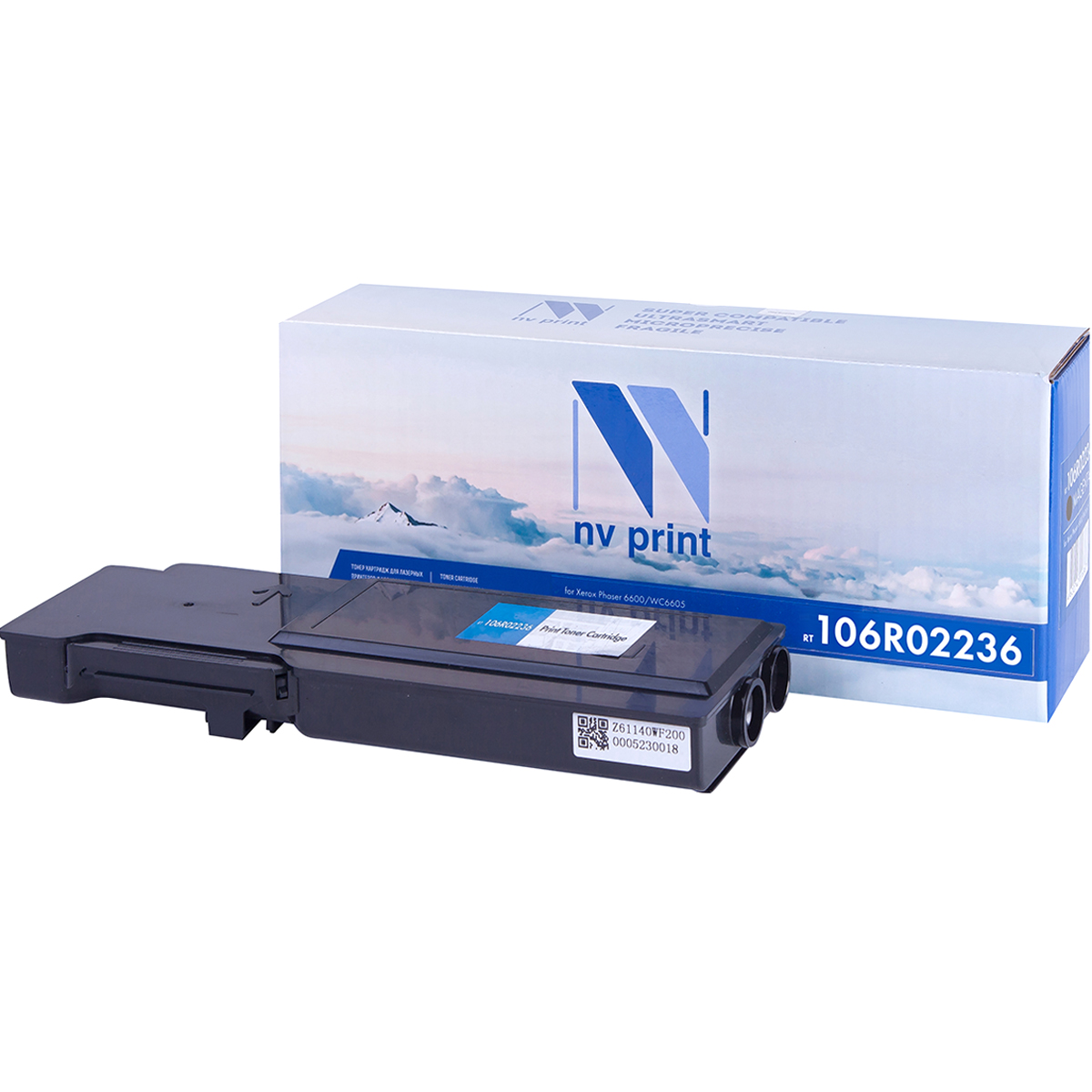 Фото - Картридж NV Print 106R02236 для Xerox Phaser 6600/WC6605 (8000k) картридж nv print 106r02306 для xerox phaser 3320 11000k