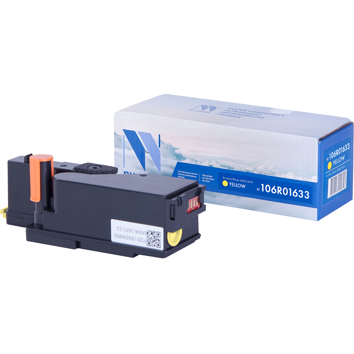 Картридж NV Print 106R01633 Yellow для Xerox Phaser 6000/6010 (1000k) картридж xerox 106r01075 yellow для phaser 6300 6350 4000стр