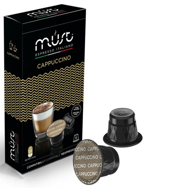 Капсулы Must Cappucino совместимые с Nespresso 10шт капсулы nespresso livanto 10шт 7692 50