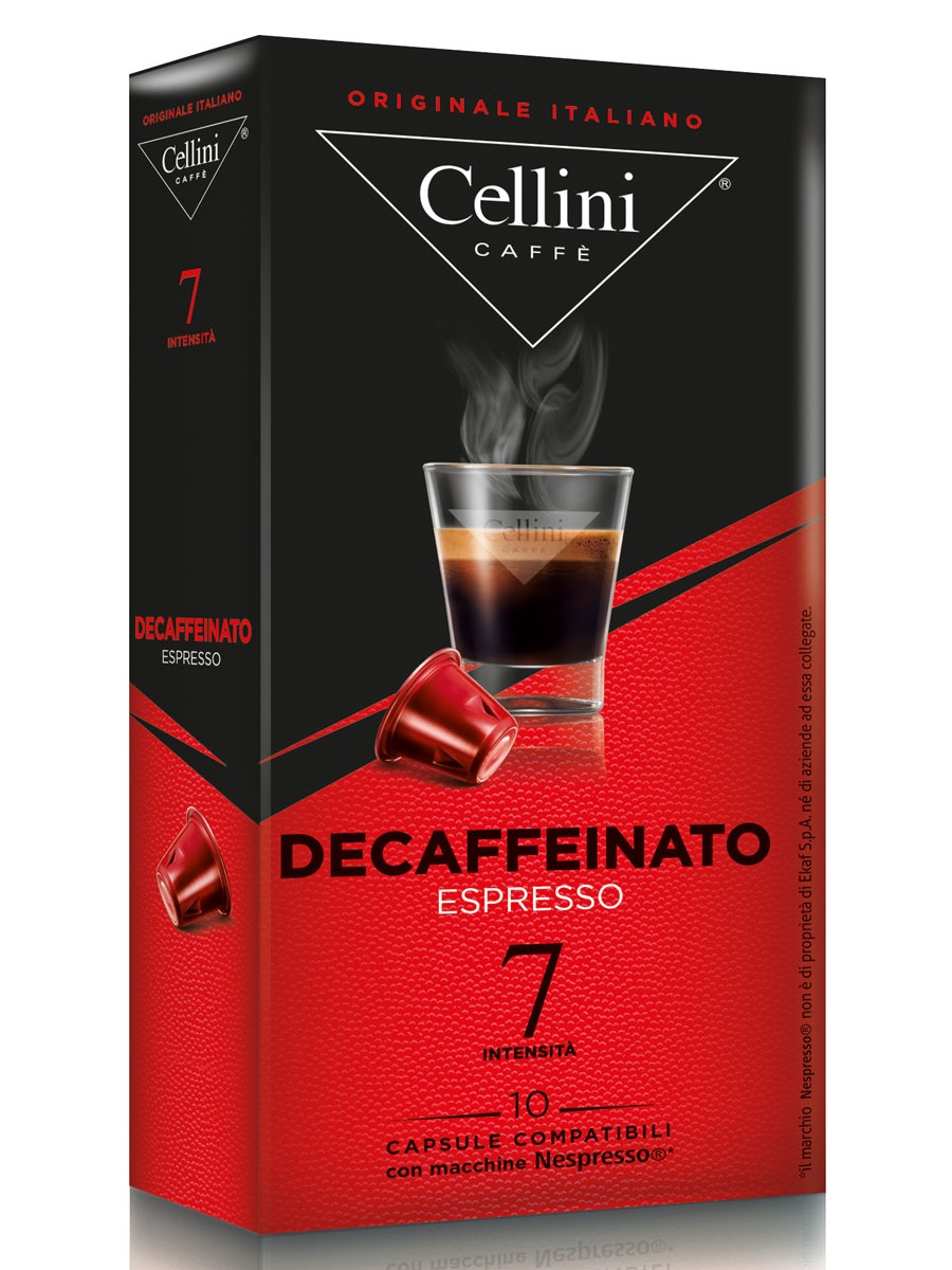 Капсулы Cellini Nespresso Decaffeinato 10шт капсулы nespresso livanto 10шт 7692 50