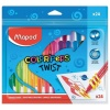 Восковые мелки MAPED (Франция) Color'peps Twist, 24 цв, выкручив...