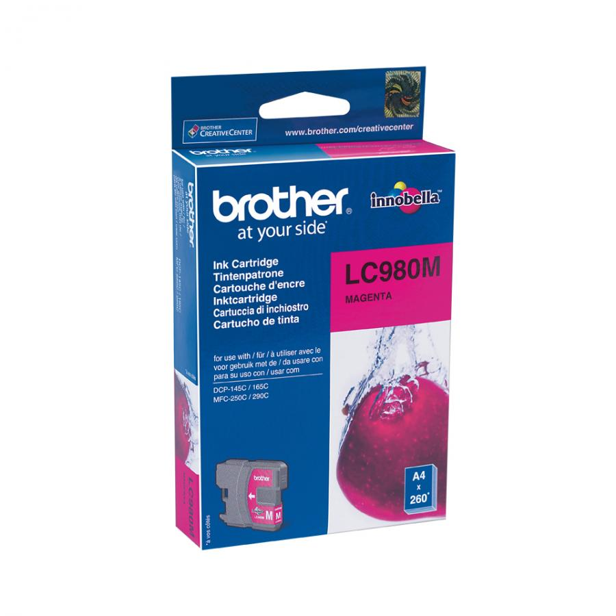 Картридж Brother LC980M для Brother DCP-145C/165C/MFC-250C, пурпурный