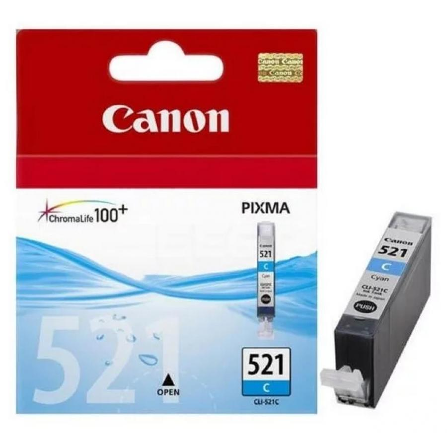 Картридж Canon CLI-521C (2934B004) для Canon iP3600/4600/MP540/620/630/980, голубой картридж canon cli 521c