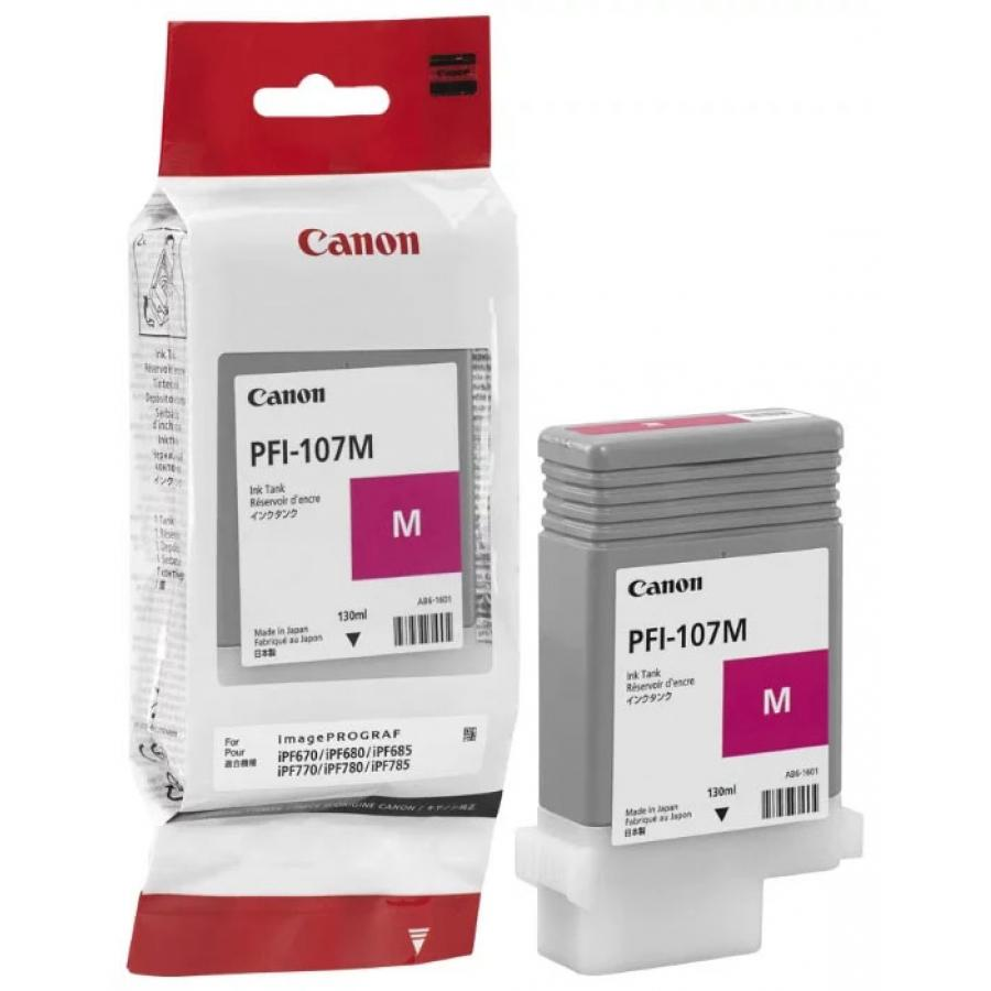 Картридж Canon PFI-107M (6707B001) для Canon iP F680/685/780/785, пурпурный for canon pfi 107 disposable cartridge chip for canon ipf680 ipf685 ipf770 ipf780 ipf785 printer