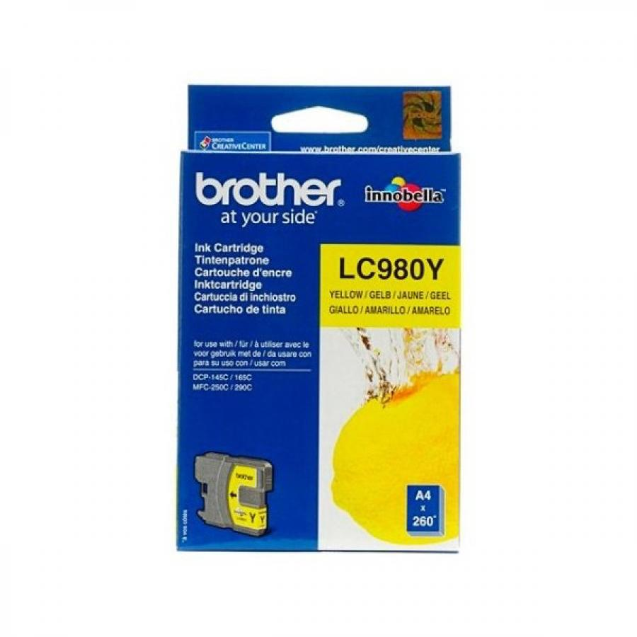 Картридж Brother LC980Y для Brother DCP-145C/165C/MFC-250C, желтый картридж brother tn910y желтый