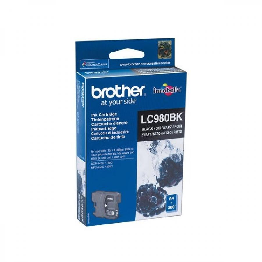 Картридж Brother LC980BK для Brother DCP-145C/165C/MFC-250C, черный brother снпч mfc 610ln картриджи lc980m lc980c lc980y lc980bk