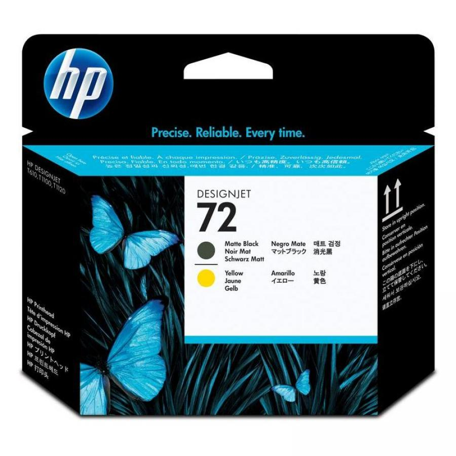 Картридж HP 72 C9384A для HP DJ T1100/T610, черный матовый/желтый free shipping q5669 60664 for hp designjet t610 t1100 z2100 z3100 z3200 vacuum fan aerosol fan assembly original used
