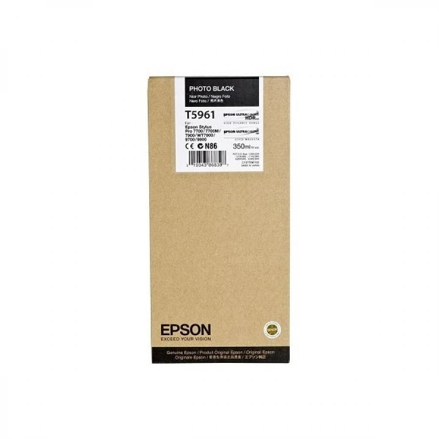 Картридж Epson T5961 (C13T596100) для Epson St Pro 7900/9900, фото черный epson t7014 xl c13t70144010 yellow картридж для workforce pro wp 4000 5000 series