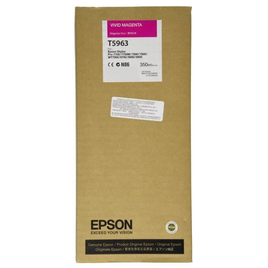 Картридж Epson T5963 (C13T596300) для Epson St Pro 7900/9900, пурпурный epson t7014 xl c13t70144010 yellow картридж для workforce pro wp 4000 5000 series