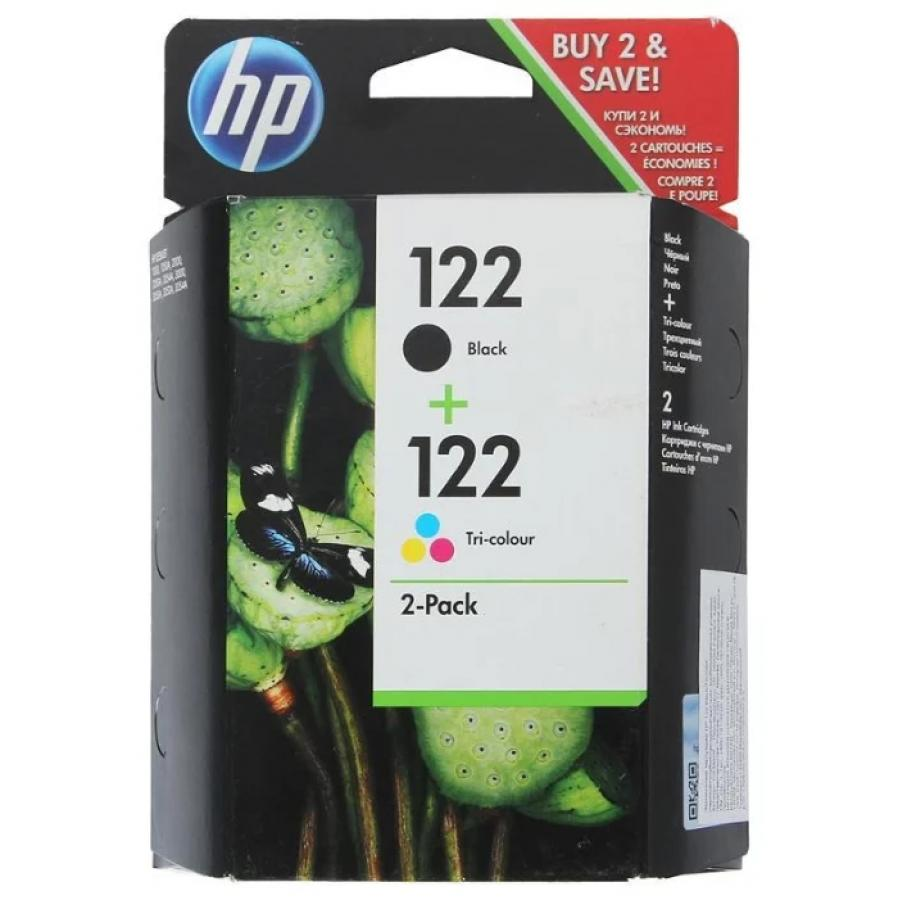 Картридж HP 122 CR340HE для HP DJ 1050/2050/2050s, черный/трехцветный for hp 122 black ink cartridge for hp 122 xl deskjet 1000 1050 2000 2050 3000 3050a 3052a printer