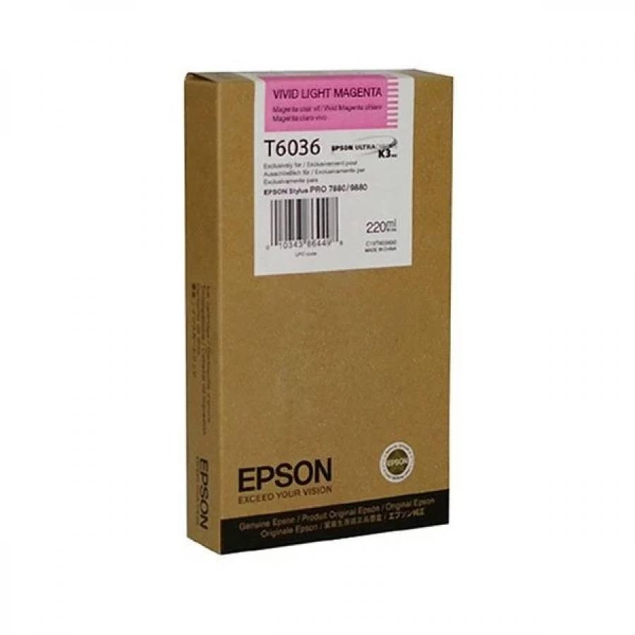 Картридж Epson T6036 (C13T603600) для Epson St Pro 7880/9880, светло-пурпурный epson t7014 xl c13t70144010 yellow картридж для workforce pro wp 4000 5000 series
