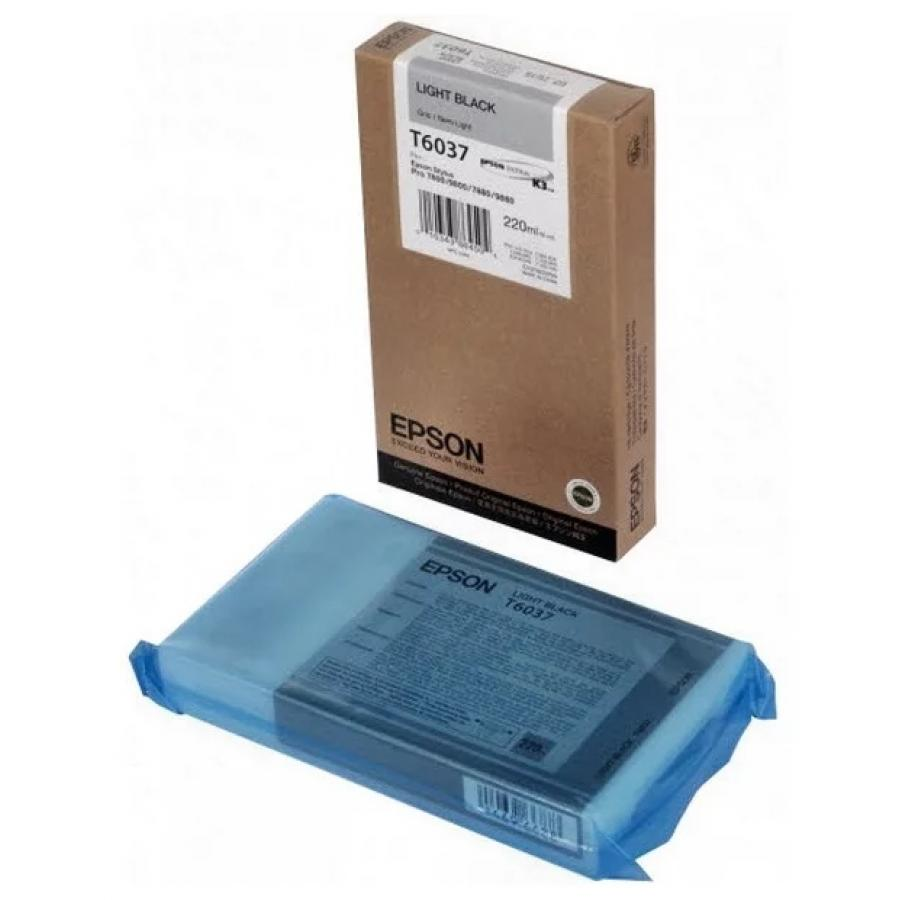 Картридж Epson T6037 (C13T603700) для Epson St Pro 7880/9880, серый epson t7014 xl c13t70144010 yellow картридж для workforce pro wp 4000 5000 series