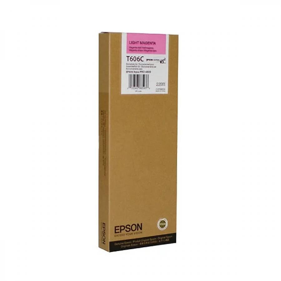 Картридж Epson T606С (C13T606C00) для Epson St Pro 4880, светло-пурпурный epson t7014 xl c13t70144010 yellow картридж для workforce pro wp 4000 5000 series