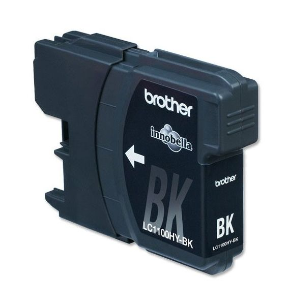 Картридж струйный Brother LC1100HYBK черный (900стр.) для Brother DCP-6690CW картридж brother lc1100hym для brother dcp 6690cw пурпурный