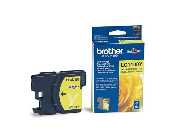 Картридж струйный Brother LC1100Y желтый (325стр.) для Brother DCP-385C/6690CW/MFC-990CW картридж cactus lc 900bk для brother dcp 110 115 120 mfc 210 215 черный 500стр