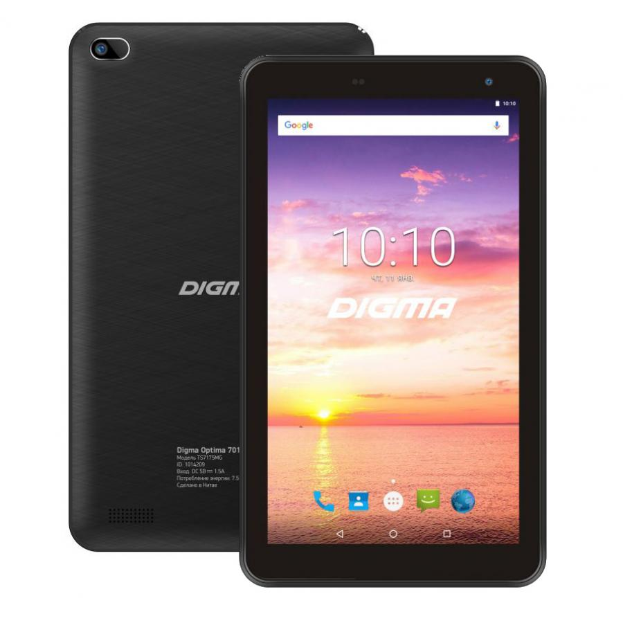 Планшет Digma Optima 7016N 16Gb 3G Black планшетный компьютер digma optima prime 3 8gb 3g black ts7131mg