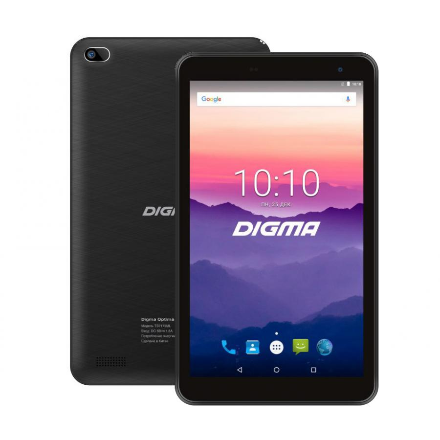 Планшет Digma Optima 7018N 16Gb LTE Black планшетный компьютер digma optima prime 3 8gb 3g black ts7131mg