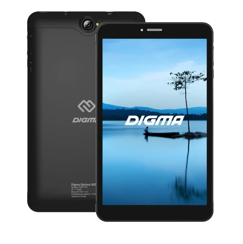 Планшет DIGMA OPTIMA 8027 8 16Gb 3G BLACK (TS8211PG) планшет