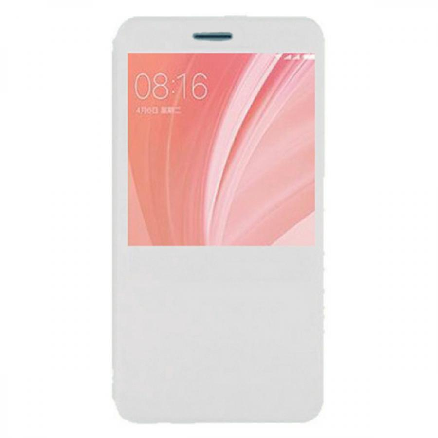 Чехол книжка Dismac Leather Case для Xiaomi Redmi Note 5A - White смартфон xiaomi redmi note 5a 16gb gold
