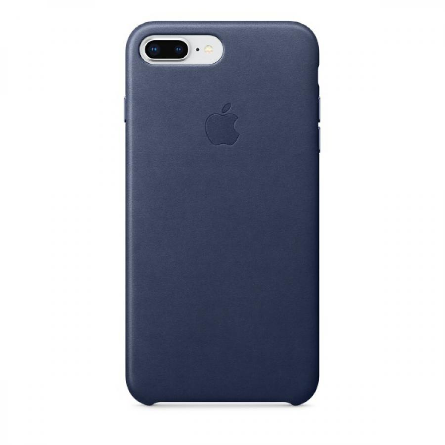 Чехол Apple Leather Case для iPhone 8 Plus/7 Plus MQHL2ZM/A Midnight Blue панель кожаная apple для iphone 8 plus 7 plus midnight blue