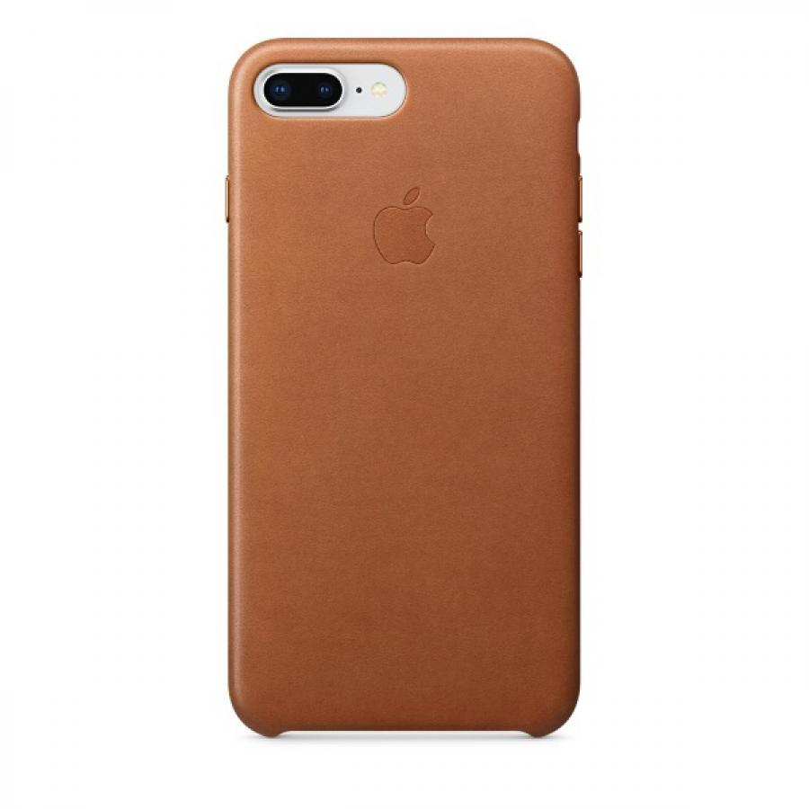 Чехол Apple Leather Case для iPhone 8 Plus/7 Plus MQHK2ZM/A Saddle Brown цена и фото