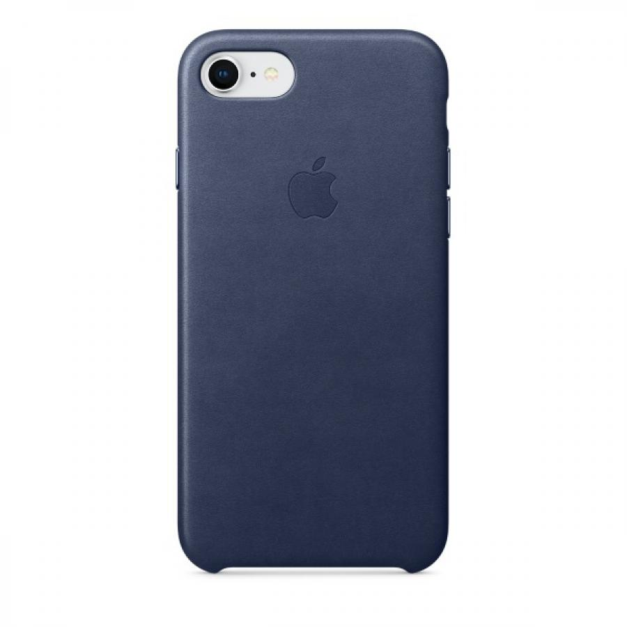 Чехол Apple Leather Case для iPhone 8/7 MQH82ZM/A Midnight Blue аксессуар чехол apple iphone 7 8 leather case midnight blue mqh82zm a