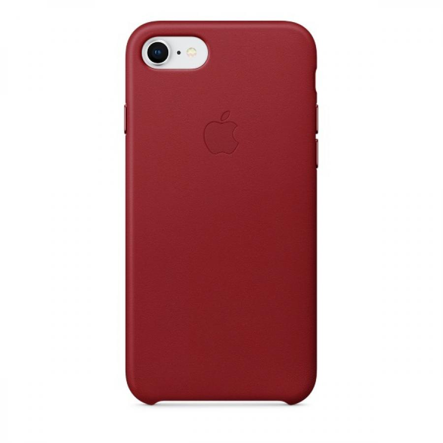 Фото - Чехол Apple Leather Case для iPhone 8/7 MQHA2ZM/A Product Red чехол apple для iphone 7 8 leather case product red
