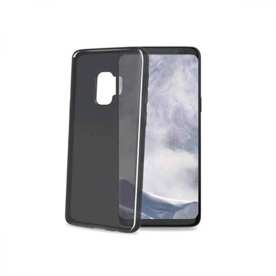 Чехол-накладка Celly Gelskin для Samsung Galaxy S9 чёрный (GELSKIN790BK) celly frost чехол для samsung galaxy a3 2016 grey