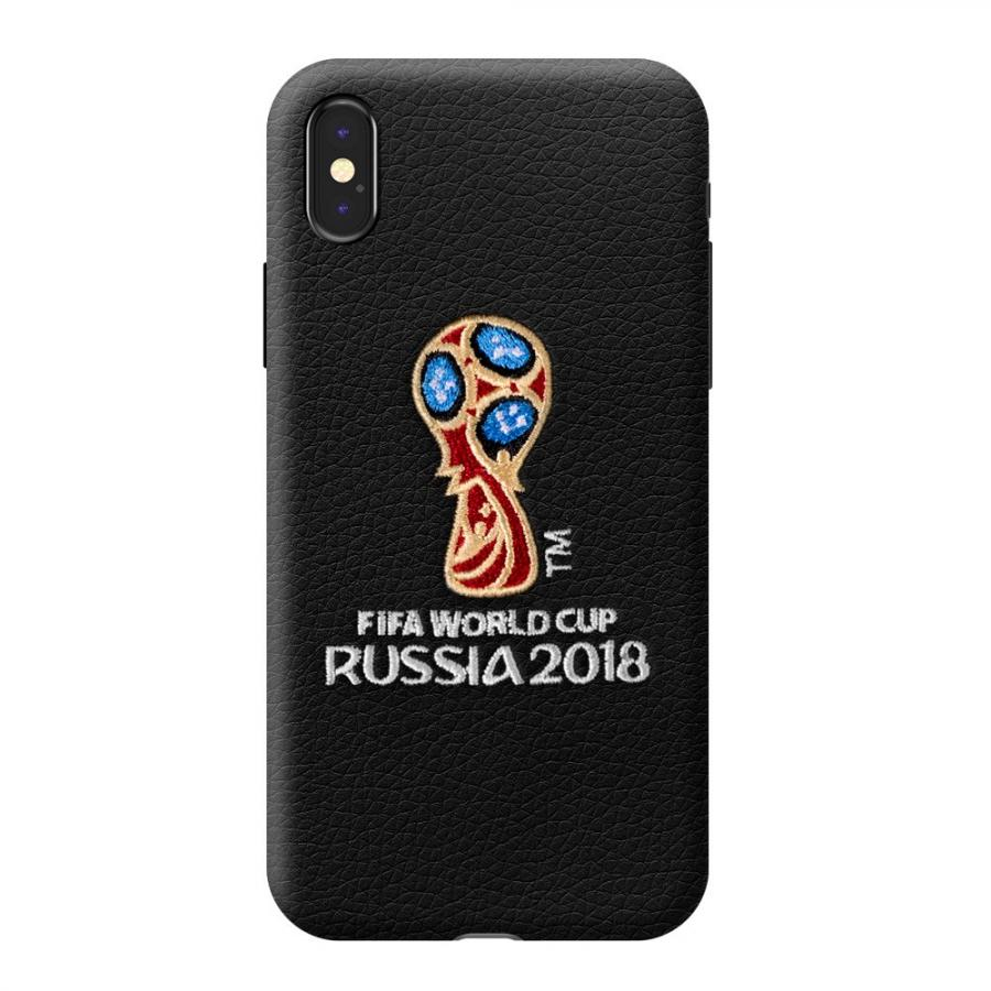 цены на Чехол Deppa ЧМ по футболу FIFA™ Логотип, вышивка, для Apple iPhone X Black  в интернет-магазинах