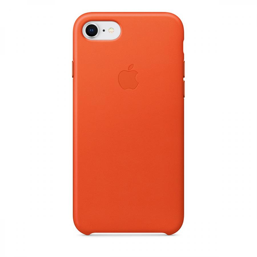 Кожаный чехол Apple Leather Case для iPhone 8/7 , цвет (Bright Orange) MRG82ZM/A чехол для apple iphone 7 leather case storm gray
