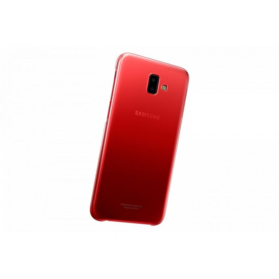 Чехол (клип-кейс) Samsung для Samsung Galaxy J6+ (2018) Gradation Cover красный (EF-AJ610CREGRU) клип кейс samsung gradation cover для samsung galaxy j4 2018 черный