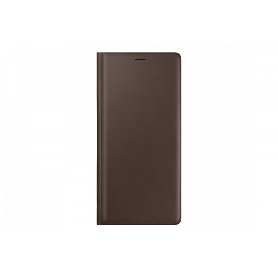 Чехол Samsung LeatherWallet для Galaxy Note 9 (N960) EF-WN960LAEGRU Brown аксессуар чехол samsung galaxy note 9 n960 leather wallet black ef wn960lbegru