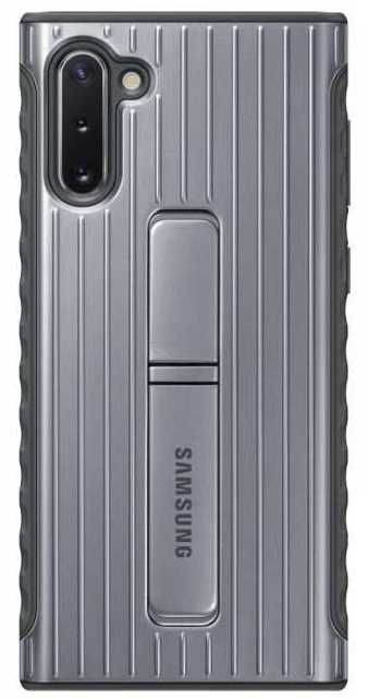 Фото - Чехол (клип-кейс) Samsung для Samsung Galaxy Note 10 Protective Standing Cover серебристый (EF-RN970CSEGRU) чехол клип кейс samsung для samsung galaxy a20 gradation cover черный ef aa205cbegru