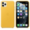Чехол Apple iPhone 11 Pro Max Leather Case - Meyer Lemon (MX0A2Z...