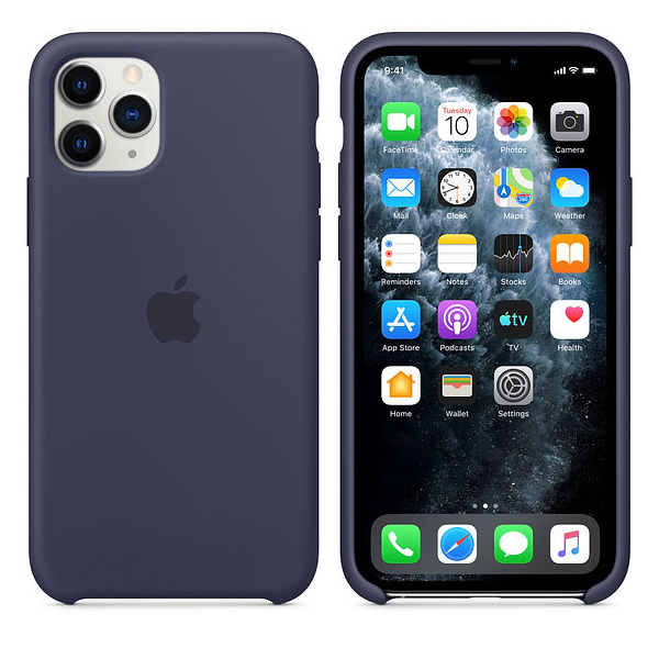 Купить Чехол Apple iPhone 11 Pro Silicone Case - Midnight Blue (MWYJ2ZM/A)