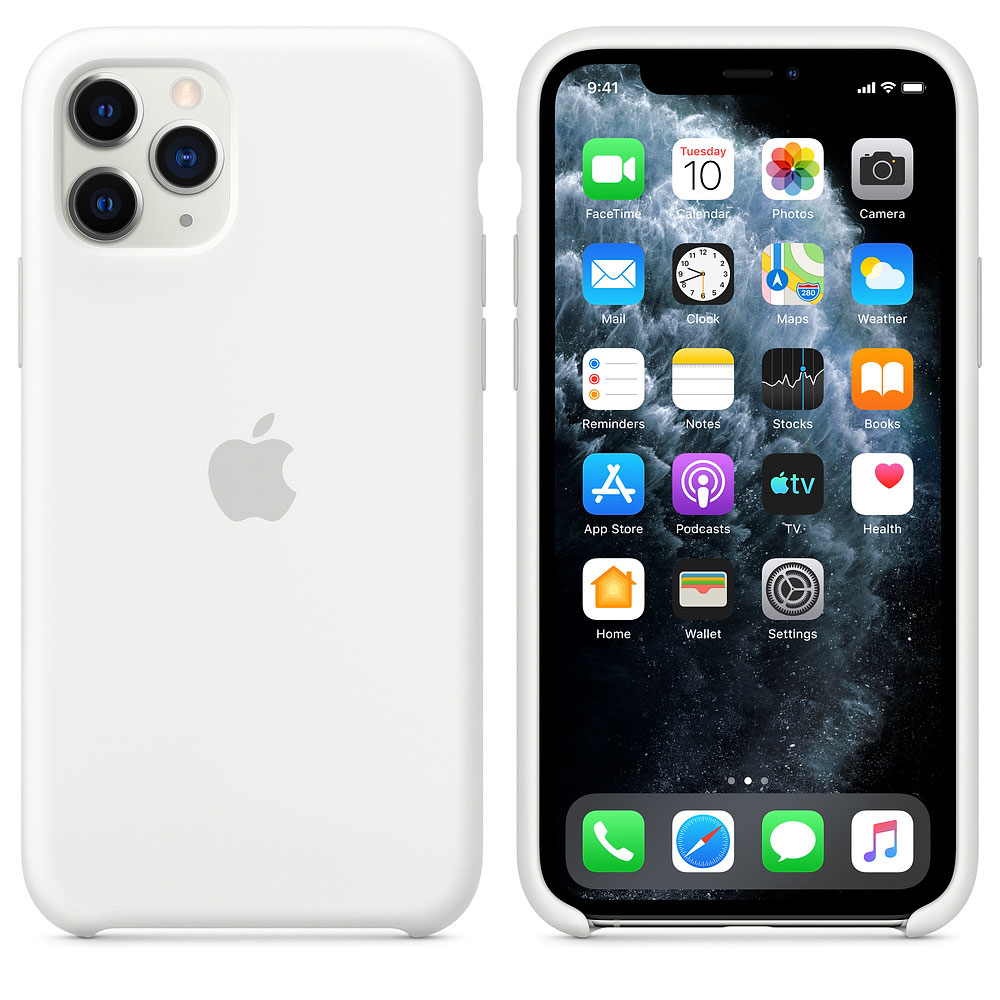 Купить Чехол Apple iPhone 11 Pro Silicone Case - White (MWYL2ZM/A)