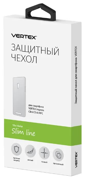 Чехол Vertex Click BackCover clear