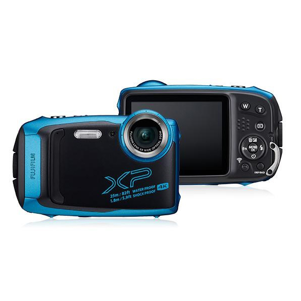 Цифровой фотоаппарат Fujifilm FinePix XP140 Sky Blue фотоаппарат fujifilm finepix xp140 dark silver
